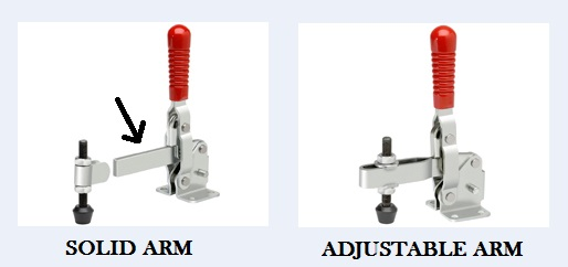 solid adjustable arm clamp